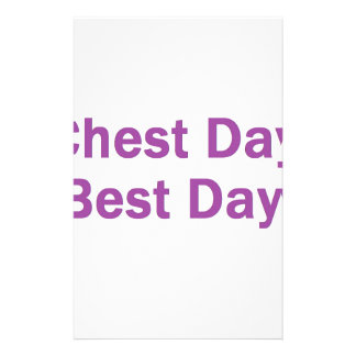 chest day purple stationery
