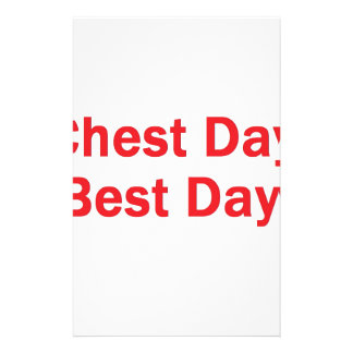 Chest day red stationery