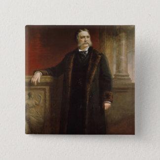 Chester A. Arthur 15 Cm Square Badge