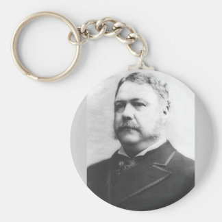 Chester A. Arthur 21 Basic Round Button Key Ring