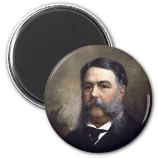 Chester A  Arthur 6 Cm Round Magnet