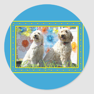 Chester and Lilly - GoldenDoodle -7 Classic Round Sticker