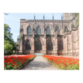 Chester cathedral and Gardens, England Postcard