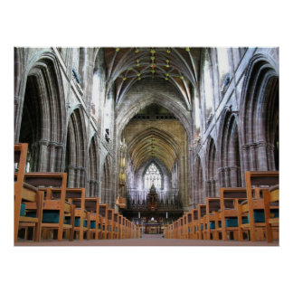 Chester Cathedral Interior Poster