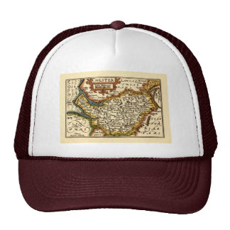 Chester Cheshire County Map England Hats