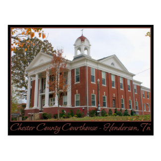 Chester County Courthouse - Henderson, TN Postcard