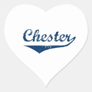 Chester Heart Sticker