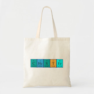 Chester periodic table name tote bag