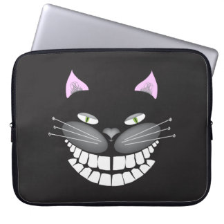 """""""Chester the Cat"""" smiling cute cheshire kitty Laptop Sleeve"""