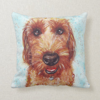 Chester the Jackapoo Watercolour Cushion