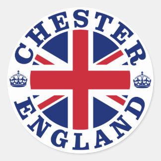 Chester Vintage UK Design Classic Round Sticker