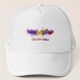 Chesterfield skyline in watercolor trucker hat