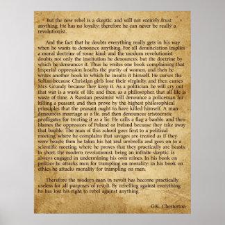 Chesterton New Rebel Poster