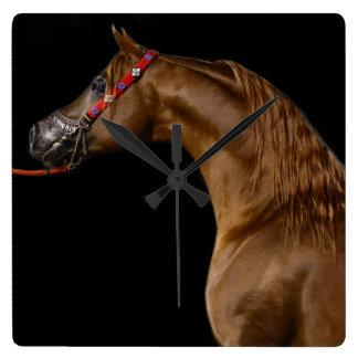 Chestnut Arabian Show Horse Clock