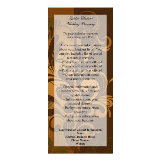 Chestnut Brown/Gold/Green Rack Card/Menu/Program Rack Card