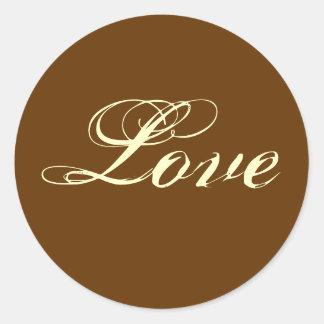 Chestnut Brown Love Stickers