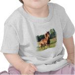 Chestnut Galloping Horse Baby Shirt