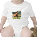 Chestnut Galloping Horse Baby T-Shirt