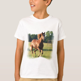 Chestnut Galloping Horse Kid's T-Shirt