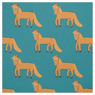 Chestnut Horse Fabric