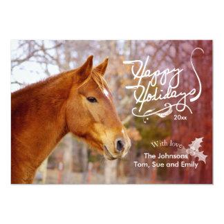 Chestnut Horse Holiday Photo Cards 13 Cm X 18 Cm Invitation Card