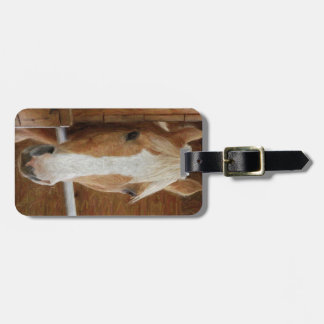 chestnut horse luggage tag