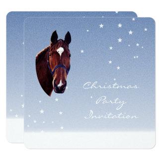 Chestnut Horse Portrait with White Star 13 Cm X 13 Cm Square Invitation Card