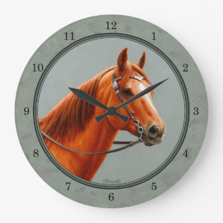 Chestnut Sorrel Quarter Horse Sage Green Clocks