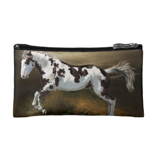 Chestnut Splash Frame Tovero Paint Horse Makeup Bag