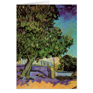 Chestnut Tree in Blossom by Vincent van Gogh Card