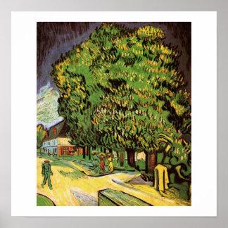 Chestnut Trees in Blossom Poster