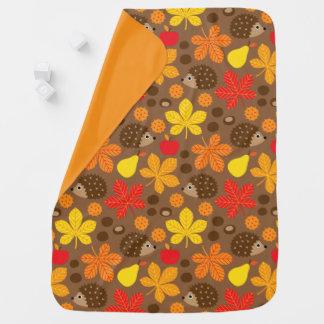 Chestnuts & Hedgehog Seamless Pattern Baby Blanket