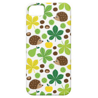 Chestnuts & Hedgehog Seamless Pattern Barely There iPhone 5 Case