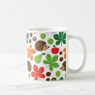 Chestnuts & Hedgehog Seamless Pattern Coffee Mug