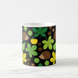Chestnuts & Hedgehog Seamless Pattern Coffee Mug