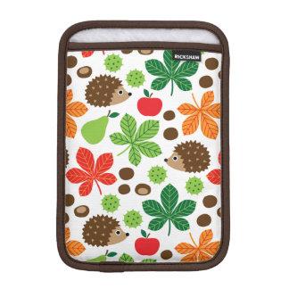 Chestnuts & Hedgehog Seamless Pattern iPad Mini Sleeve