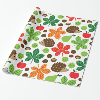 Chestnuts & Hedgehog seamless pattern (ver.1)