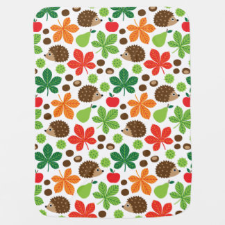 Chestnuts & Hedgehog seamless pattern (ver.1) Baby Blanket