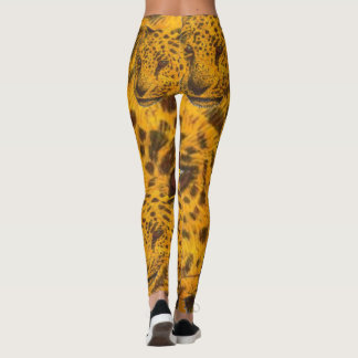 CHETAH EYES by Slipperywindow Leggings