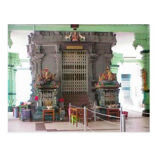 Chettiar temple, interior postcard