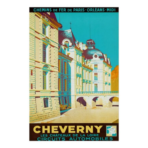 Cheverny ~ Vintage French Travel Print