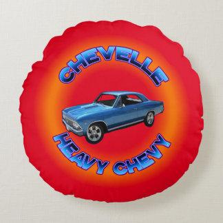 Chevette Heavy Chevy Round Pillow.