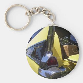 Chevrolet 1950s basic round button key ring