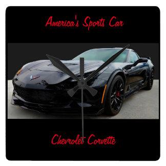 Chevrolet Corvette Square Wall Clock