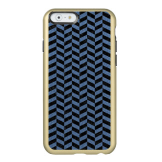 CHEVRON1 BLACK MARBLE & BLUE DENIM INCIPIO FEATHER® SHINE iPhone 6 CASE