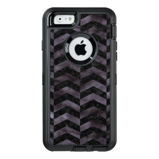 CHEVRON2 BLACK MARBLE & BLACK WATERCOLOR OtterBox DEFENDER iPhone CASE