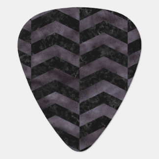 CHEVRON2 BLACK MARBLE & BLACK WATERCOLOR PLECTRUM