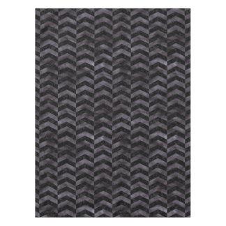 CHEVRON2 BLACK MARBLE & BLACK WATERCOLOR TABLECLOTH