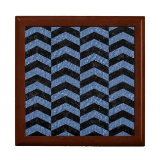 CHEVRON2 BLACK MARBLE & BLUE DENIM GIFT BOX