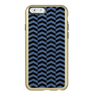CHEVRON2 BLACK MARBLE & BLUE DENIM INCIPIO FEATHER® SHINE iPhone 6 CASE